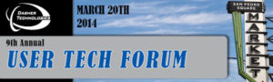 9th Annual User Tech Forum | March 20th