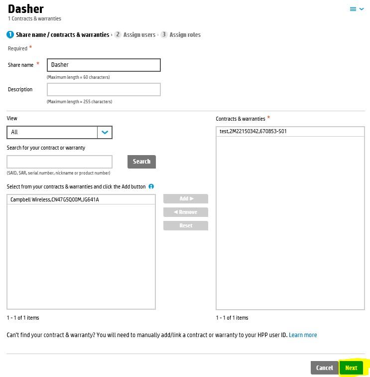 HP demo lab Dasher