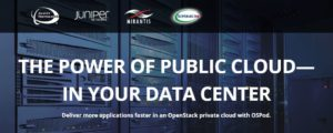 OSPod  – The OpenStack Private Cloud Solution Presented by Dasher Technologies, Juniper Networks, Mirantis & SolidFire
