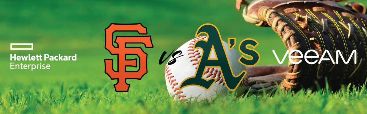 Giants vs A's with Veeam & HPE Storage – San Francisco, CA