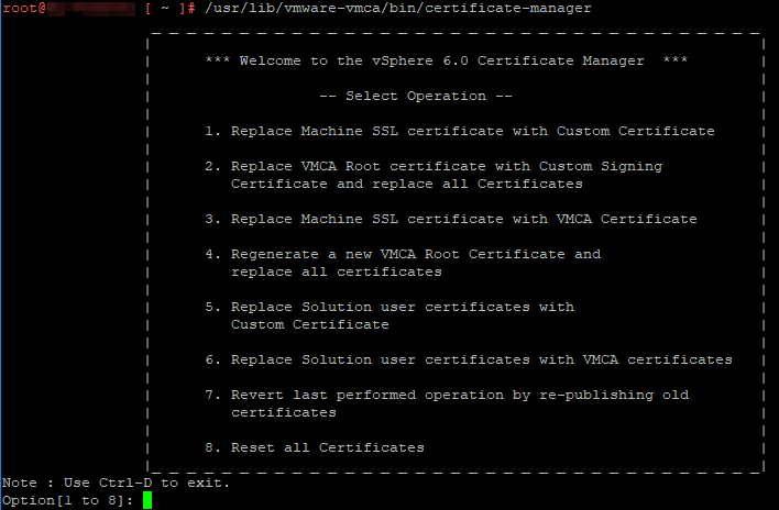 VMware vCenter Certificate Replacement - Dasher